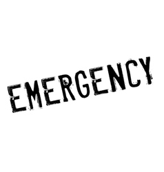 Emergency stamp rubber grunge vector