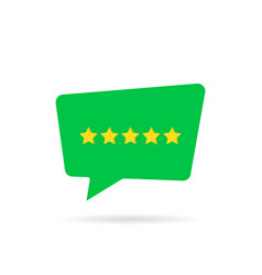 five rating star like positive feedback vector image vector image