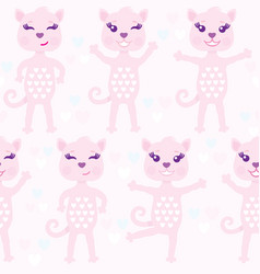 funny seamless pattern with pink abstract vector image vector image