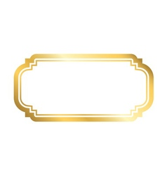 Gold frame simple white vector