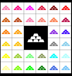 Gold simple sign felt-pen 33 colorful vector