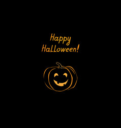 Halloween greeting card holiday background with vector