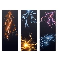 Lightning bolt storm strike flayer brochure vector