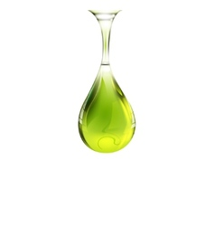 Olive oil drop vector image