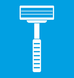 Razor icon white vector