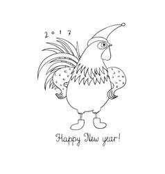 Rooster Cartoon cock vector image