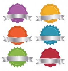 seals with ribbons vector image vector image