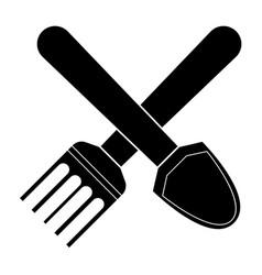 Shovel and pitchfork vector