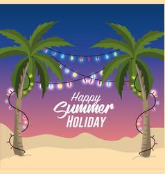 Summer merry christmas holidays vacation vector