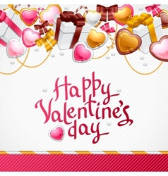 Valentines Day background Gift card and flyer vector image vector image