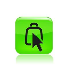 web bag icon vector image vector image