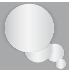 White circle paper sheet vector image