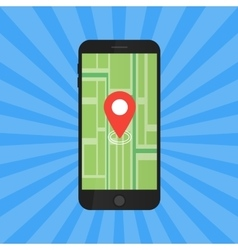 Game application concept gps map navigation with vector