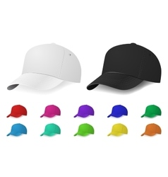 Baseball cap set vector