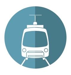 Tram travel public transport urban vector