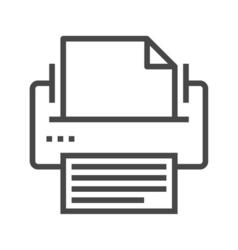 Printer line icon vector