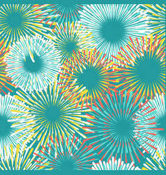Colorful fireworks seamless pattern design vector