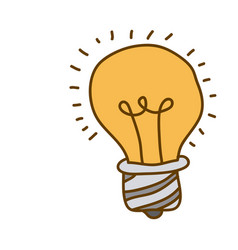 light colored hand drawn silhouette of light bulb vector image
