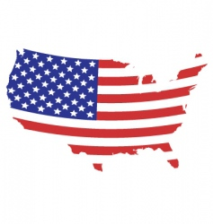 us flag map vector image