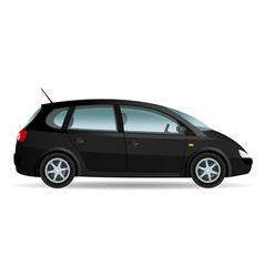 Black minivan vector