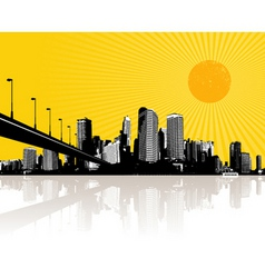 Illustration with city vector