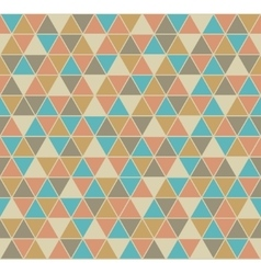 Triangle seamless pattern in vintage colors vector image