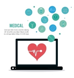 Medical care and technology vector