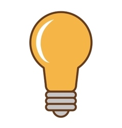 Yellow lightbulb icon vector