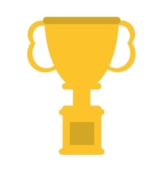 Cup winner trophy icon vector