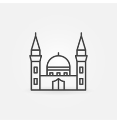 Mosque building icon vector image