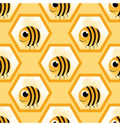 bee with text vector image vector image