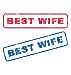 Best wife rubber stamps vector