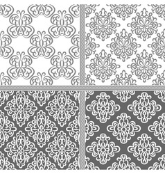 Black and white ethnic seamless pattern vector image