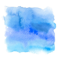 blue color watercolor hand drawn gradient banner vector image vector image