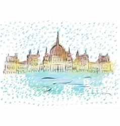 Budapest parliament vector