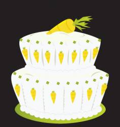 carrot cake vector image