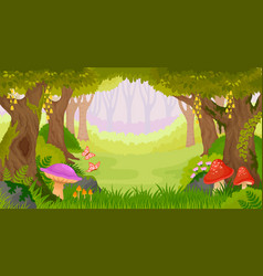 Cartoon fantasy forest vector