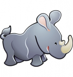 cute rhino illustration vector image