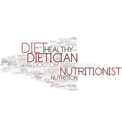 Dietician word cloud concept vector