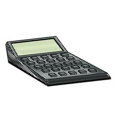 drawing calculator financial economy equipment vector image