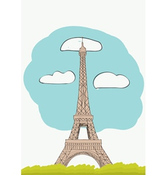 Eiffel Tower for magazine and newspaper vector image