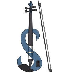 Electric violin vector image