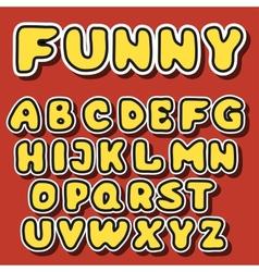 english alphabet in cartoon style vector image