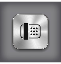 Fax icon - metal app button vector