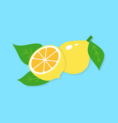 Flat of lemon vector