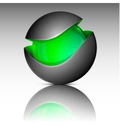 Green circle sphere logo vector
