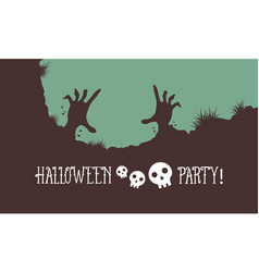 Halloween party background style vector