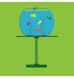 icon with aquarium vector image vector image