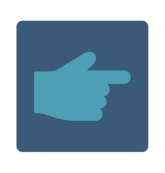 Index finger flat cyan and blue colors rounded vector