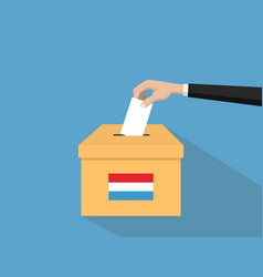Luxembourg election vote concept with vector